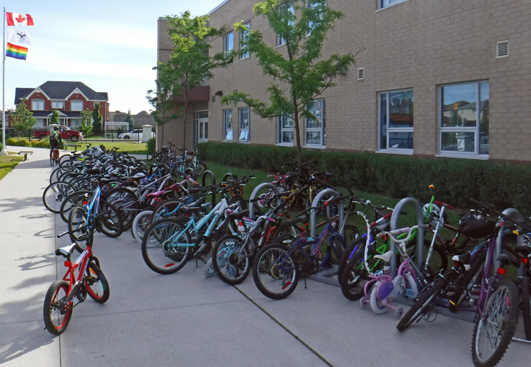 Bike to School Week bike racks