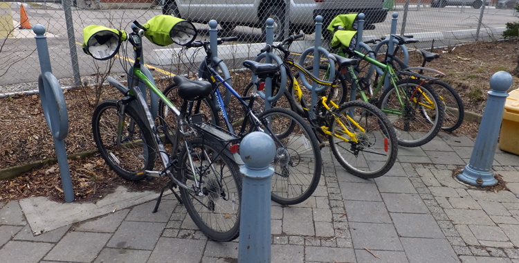 Brampton Library bike rack