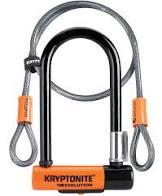 Bike U-lock with loop cable