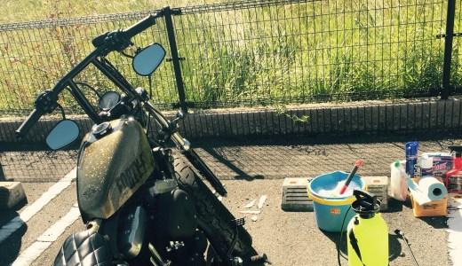 バイク初心者が注意すべきバイク洗車方法とは?