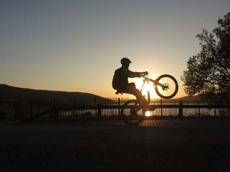 Wheelie Sunset