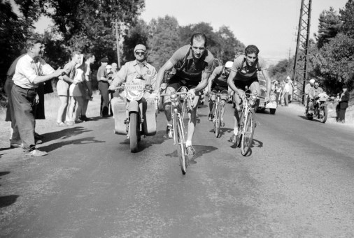 FRANCE - JANUARY 1: photo dated in 1952 shows Italy's former cycling legend, Gino Bartali, during the Tour de France. Bartali died 05 May 2000 at the age of 86 at his Florence home in Tuscany, his son Andrea announced. (Photo credit should read STF/AFP/Getty Images)