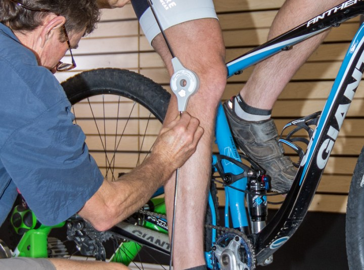 goniometer used in bike fitting