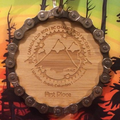It's a wooden medal.