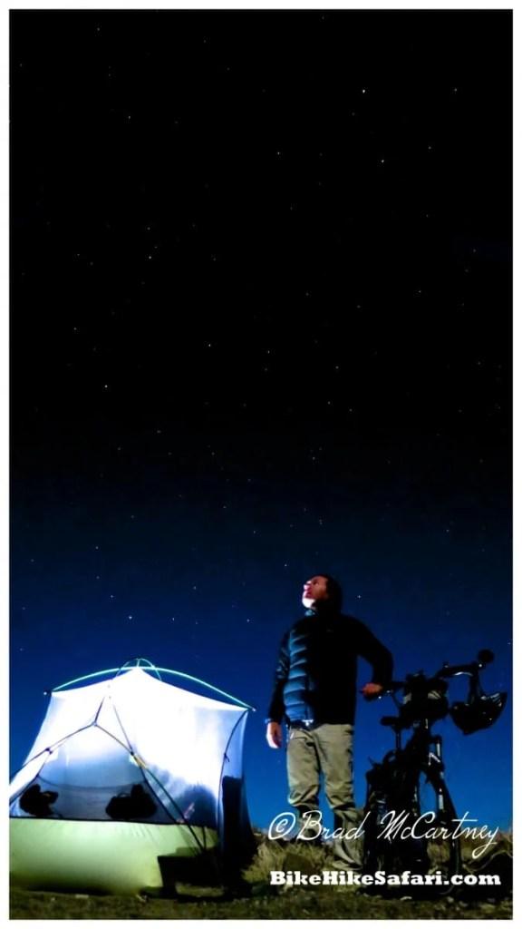 Star gazing at camp