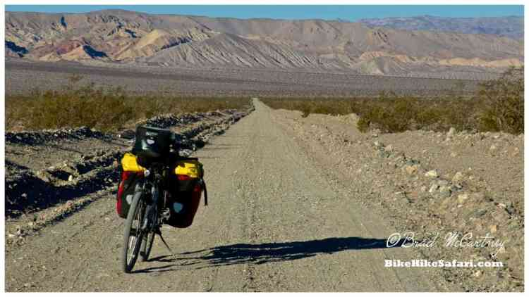 Nearing the end of the dirt road through Death Valley