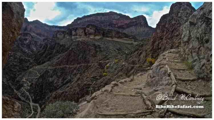 Descending the Bright Angel Trail