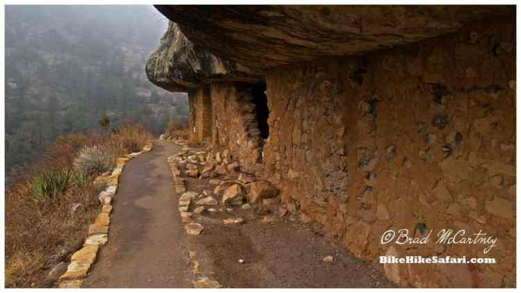 From outside one of the Walnut Canyon Pueblos