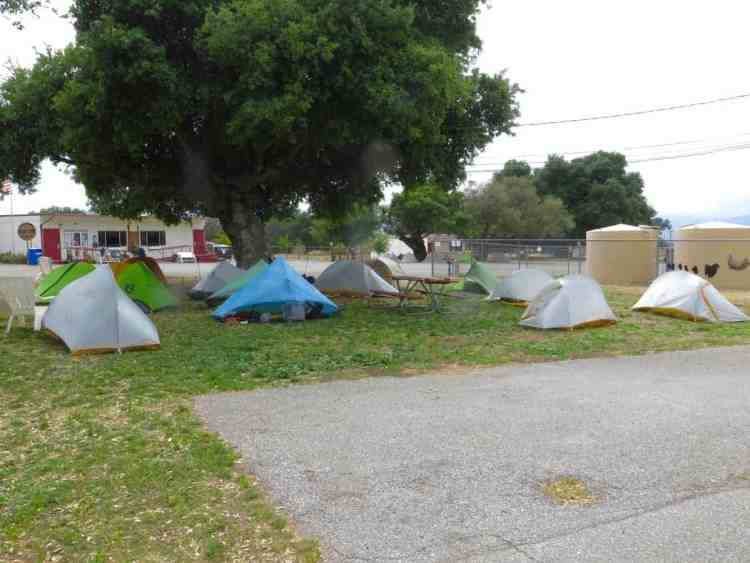 Tent city at Warner Springs Resource Centre