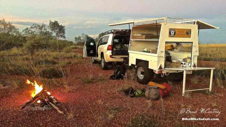 Camping in the 'Outback' with Charter North.