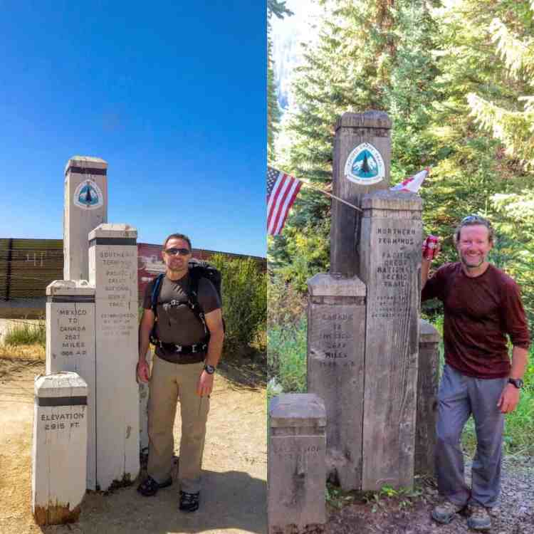 Southern terminus and Northern terminus of the PCT