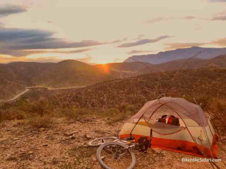 Camping in the Sierra Gorda, Mexico