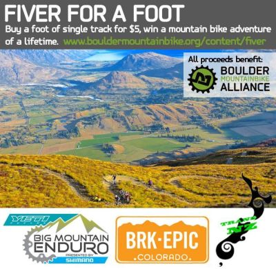 Fiver for a foot, boulder mountainbike alliance