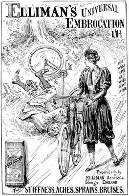 An advertisement for women cyclists.