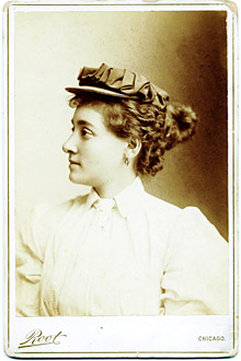 Annie Londonderry, likely about the age when she completed her ride.