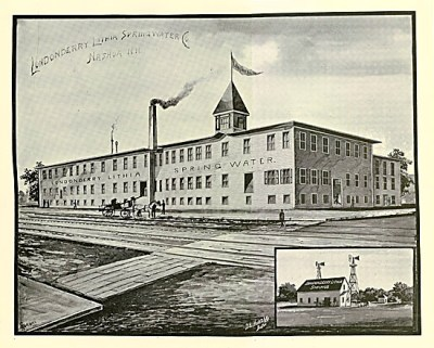 Londonderry Lithia plant in the late 1800s. The company that helped sponsor Annie's around the world journey.