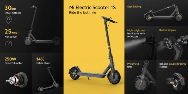 Xiaomi Releases the Latest Electric Scooter Mi Electric Scooter 1S