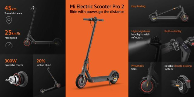 Xiaomi Releases the Latest Electric Scooter Mi Electric Scooter Pro 2