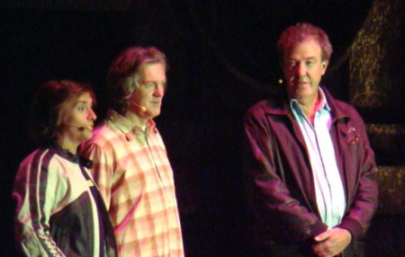 """The """"Top Gear"""" crew: Richard Hammond, James May, and Jeremy Clarkson. From Phil Guest, Wikimedia Commons. http://commons.wikimedia.org/wiki/File:Top_Gear_team_Richard_Hammond,_James_May_and_Jeremy_Clarkson_31_October_2008.jpg"""
