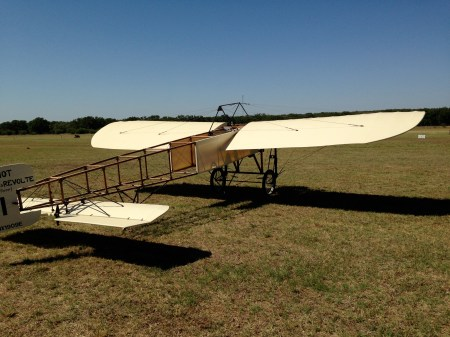 Bleriot. A replica of the plane Louis Bleriot flew across the English Channel in 1909.
