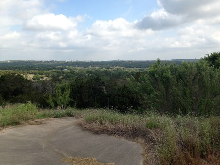 At the top of the Blazyk hill, a panoramic view awaits the cyclist.