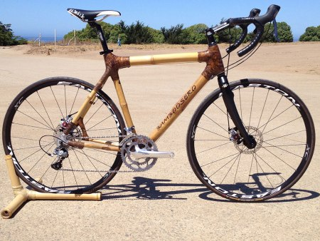 A road bike by Bamboosero of La Selva Beach, California.