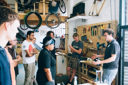 The Bamboo Bicycle Club offers workshops and class for people who want to build their own bikes.
