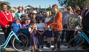 Bikes in Schools launch at Holy Cross School in Miramar