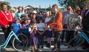 Bikes in Schools launch at Holy Cross School in Miramar