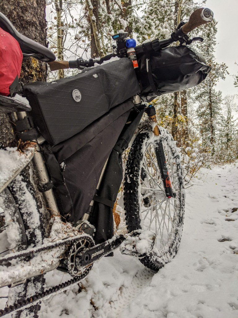 A chilly ride home without insulation on the brake levers.