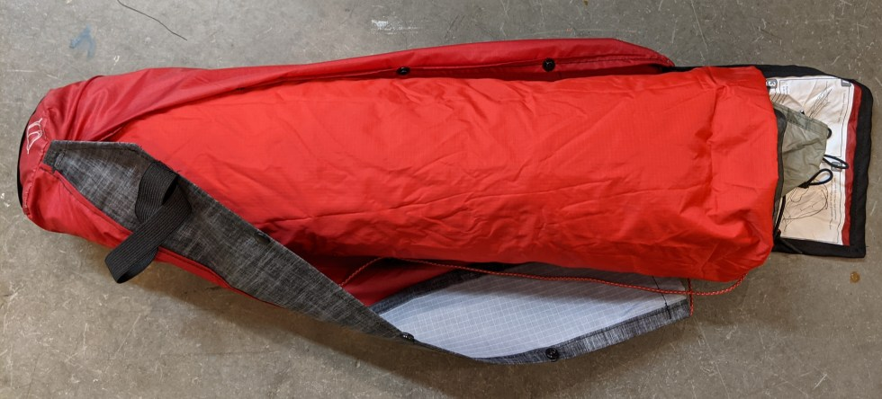 MSR Carbon Reflex 1 tent with DIY full-size