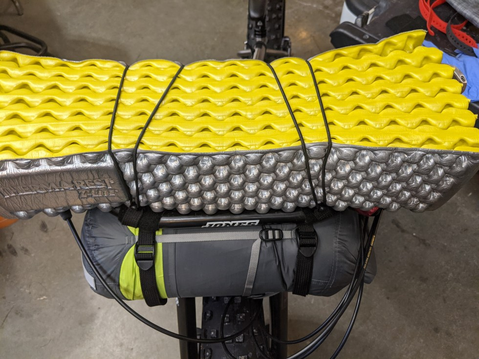 Thermarest Z-Mat strapped to the top of the H Loop.
