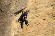 Climbing above Queenstown - Sundial crag