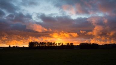 Západ slunce v Apiti