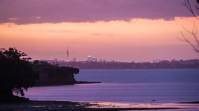 Západ slunce v Auckland