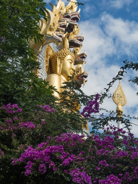 Golden Buddha with Nagas in Thaton