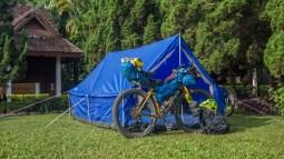 Camping in Fancy Resort