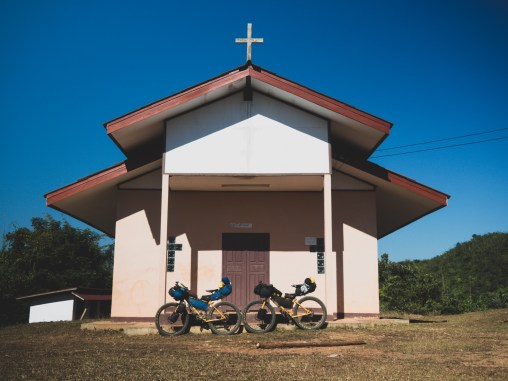 Church in remote village in Vang Vieng area