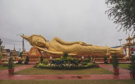 Leaving Vientiane, Buddha in Pha That Luang