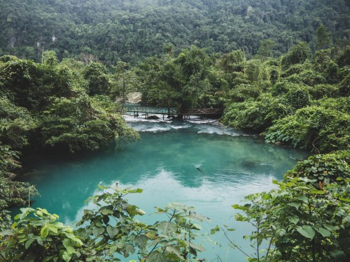 Turquoise river in Phong Nha National Park
