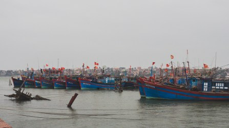 Fishing boats in Dong Hoi
