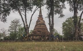Chang Lom, sloní pagoda ve Starém Sukhotai