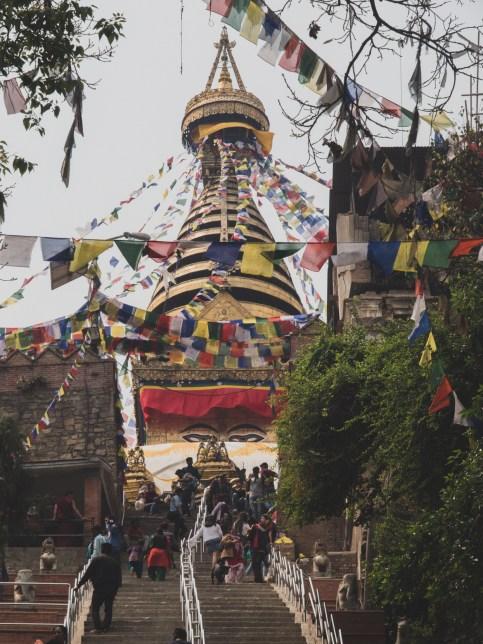 Stupa at Monkey Temple, Kathmandu