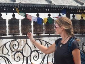 Daška a modlitební mlýnky, Opičí Chrám,Kathmandu