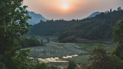 Unpleasantly long day brought pleasant sunset, Dhading Besi Area