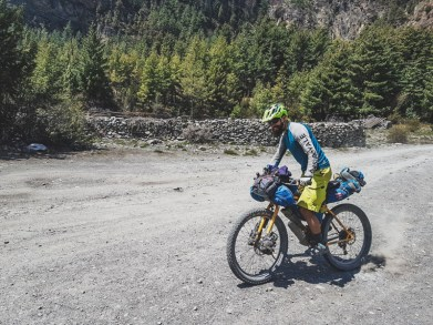 Fun on the bike. Manang, Nepal