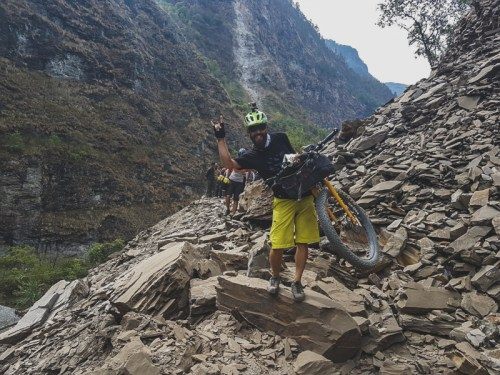 Even landslides couldn't stop us. Beni, Nepal
