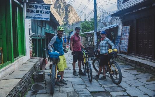 Leaving Tatopani. Tatopani, Nepal