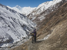 Descend has started. Thorong Pedi, Nepal