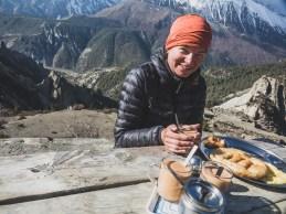 Tibetská snídaně. Gunsang, Nepál